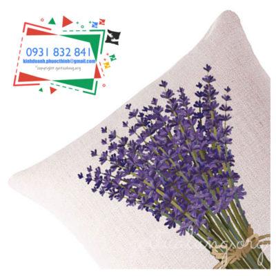 gối lưng GTL hoa lavender góc nghiêng