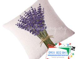 gối lưng GTL hoa lavender mặt nghiêng