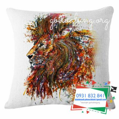 Xưởng may gối 3d hình con sư tử