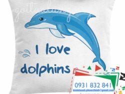 Gối tựa hình cá heo I love Dolphin