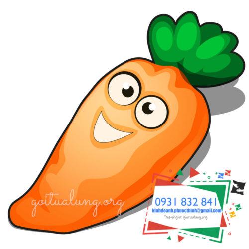 gối lưng củ cà rốt dễ thương